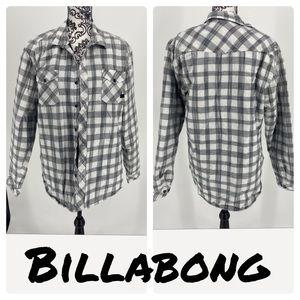 Billabong quilted plaid button up jacket shirt
